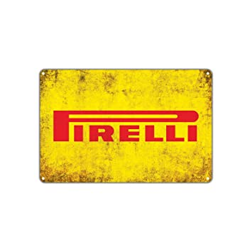 Amazon.com: Pirelli Tires Retro Vintage Retro Metal Wall Decor Art ...