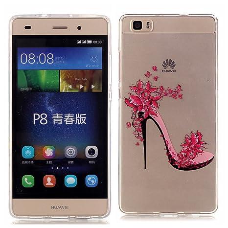 DETUOSI Funda Huawei P8 Lite 2015 Carcasa Silicona Gel Goma Flexible Case Ultra Delgado TPU Cover Protectora Fundas para Huawei P8 Lite 2015/2016