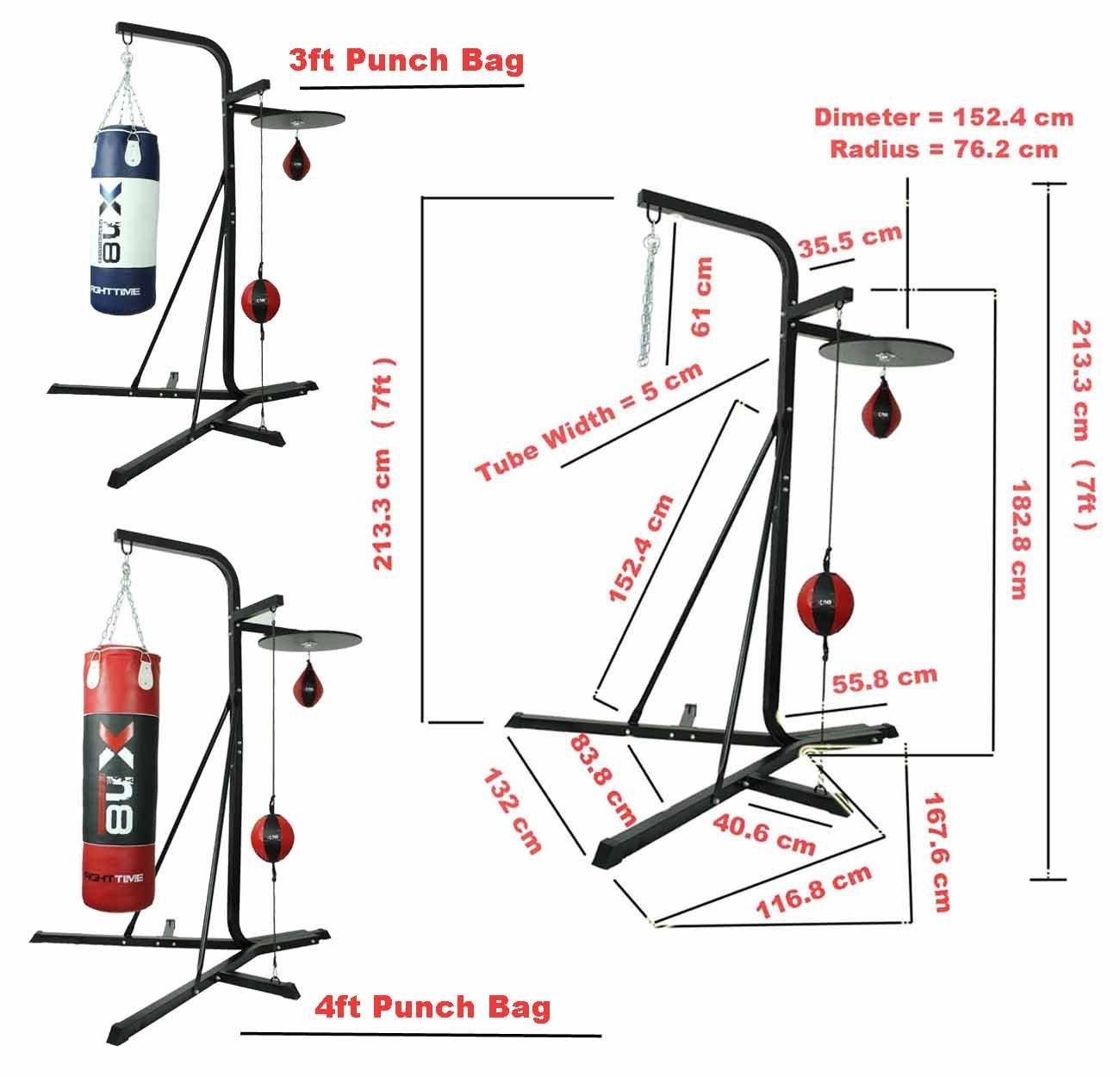 XN8 3 Wege Rahmen Boxsack-Ständer MMA Boxen Speedball Plattform ...