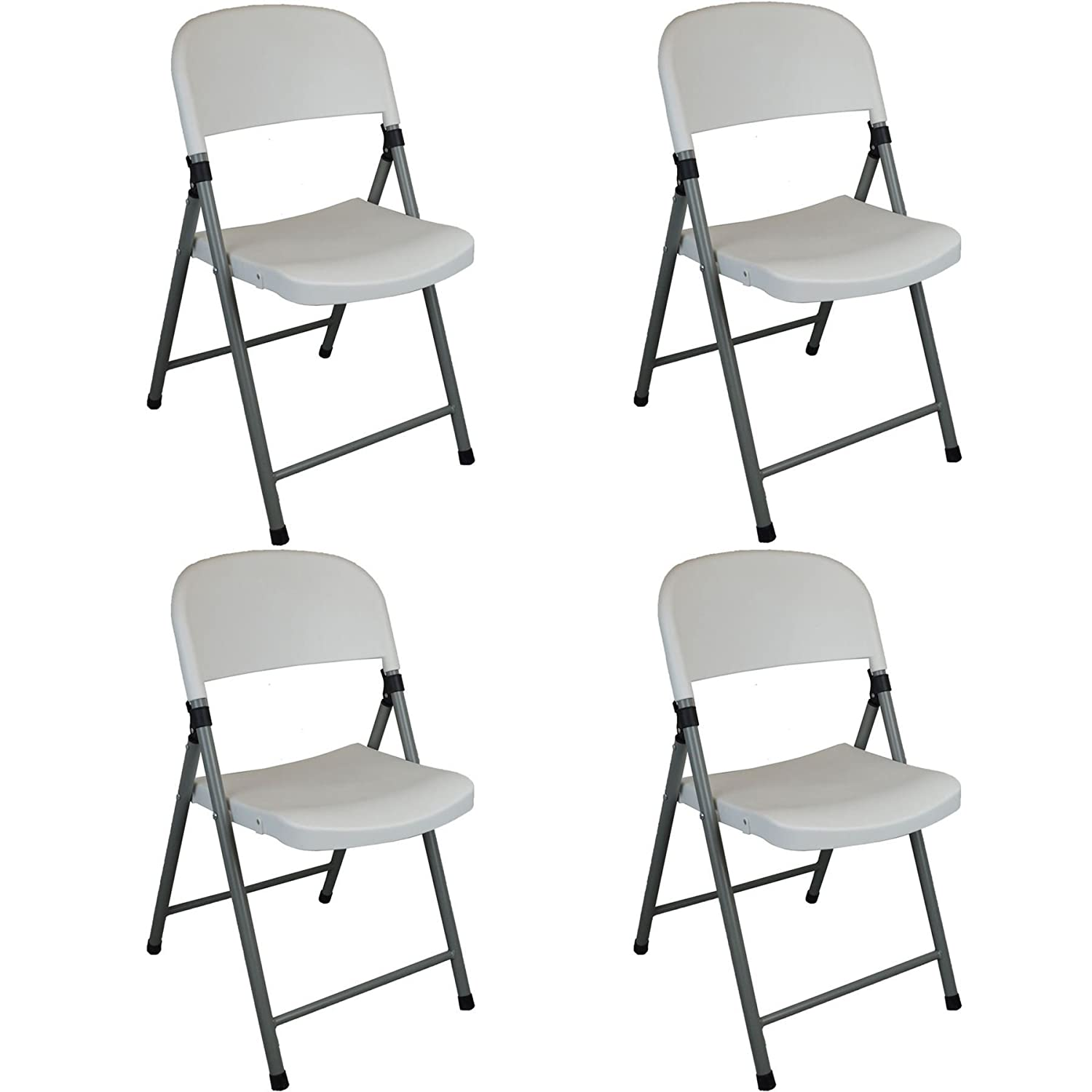Heavy Duty Plastic Folding Indoor / Outdoor, Office / Camping Chair - Pack Of 4 Harbour Housewares