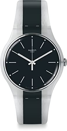 Swatch Mens Greyline SUOW142 Blue Rubber Swiss Quartz Fashion Watch
