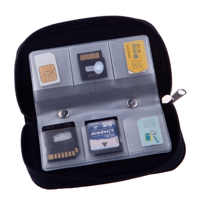 22 Slots Case Pouch Holder for Memory Card Sd Card.memory Card Carrying Case Memory Card Holder (2 Packs) yinglite FBA_YLTSD2