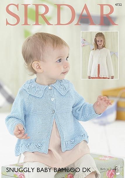Sirdar 4732 Knitting Pattern Baby & Girls Round Neck & Collared ...