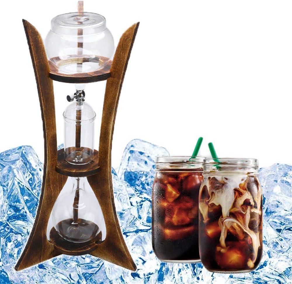 NLYWB Torre de café de 600 ml con tecnología de Goteo Lento Helado, máquina para Preparar Cerveza fría de 6 Tazas con gotero de Vidrio sin BPA,Disfrute de café con bajo Contenido de ácido en casa
