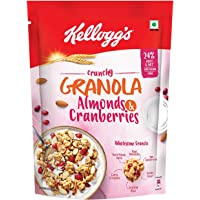 Kellogg's Crunchy Granola Almonds and Cranberries, Breakfast Cereal, Multi-Grain Cereal, 460gms Pack