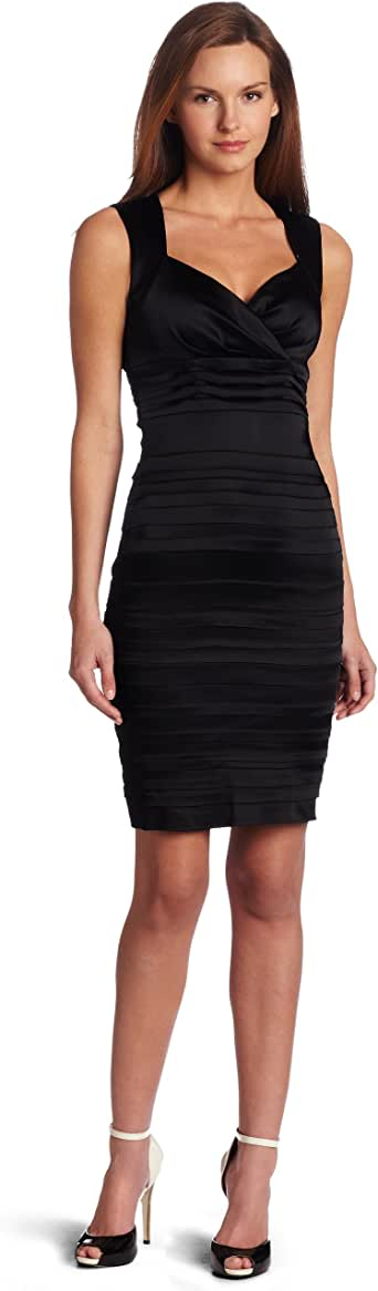 Jax Women S Tucked Front Dress Black 2 At Amazon Women S