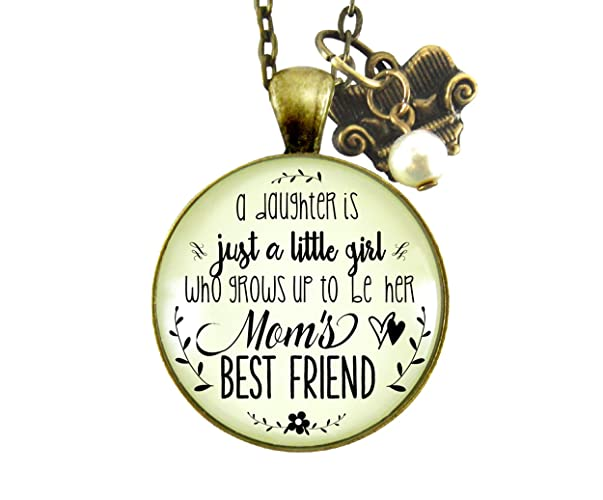 Amazoncom Mother Daughter Necklace Little Girl Grows Up To Become