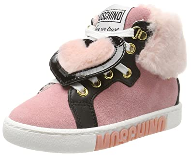 cheap sale on feet images of fantastic savings Moschino Baby Girls' 26072 Trainers, (Pink), 11.5UK Child: Amazon ...
