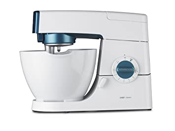 Kenwood Chef Classic - Batidora amasadora, 800 W, 4.3 l, color blanco y azul: Amazon.es: Hogar