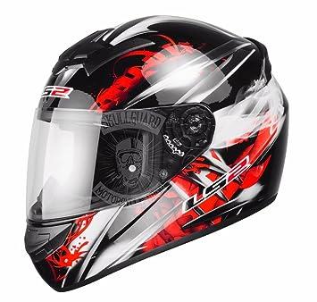 Casco de moto LS2 FF351, talla M, color rojo, diseñ ...