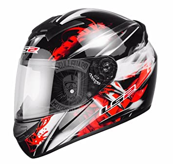 Casco de moto LS2 FF351, talla M, color rojo, dise&ntilde ...
