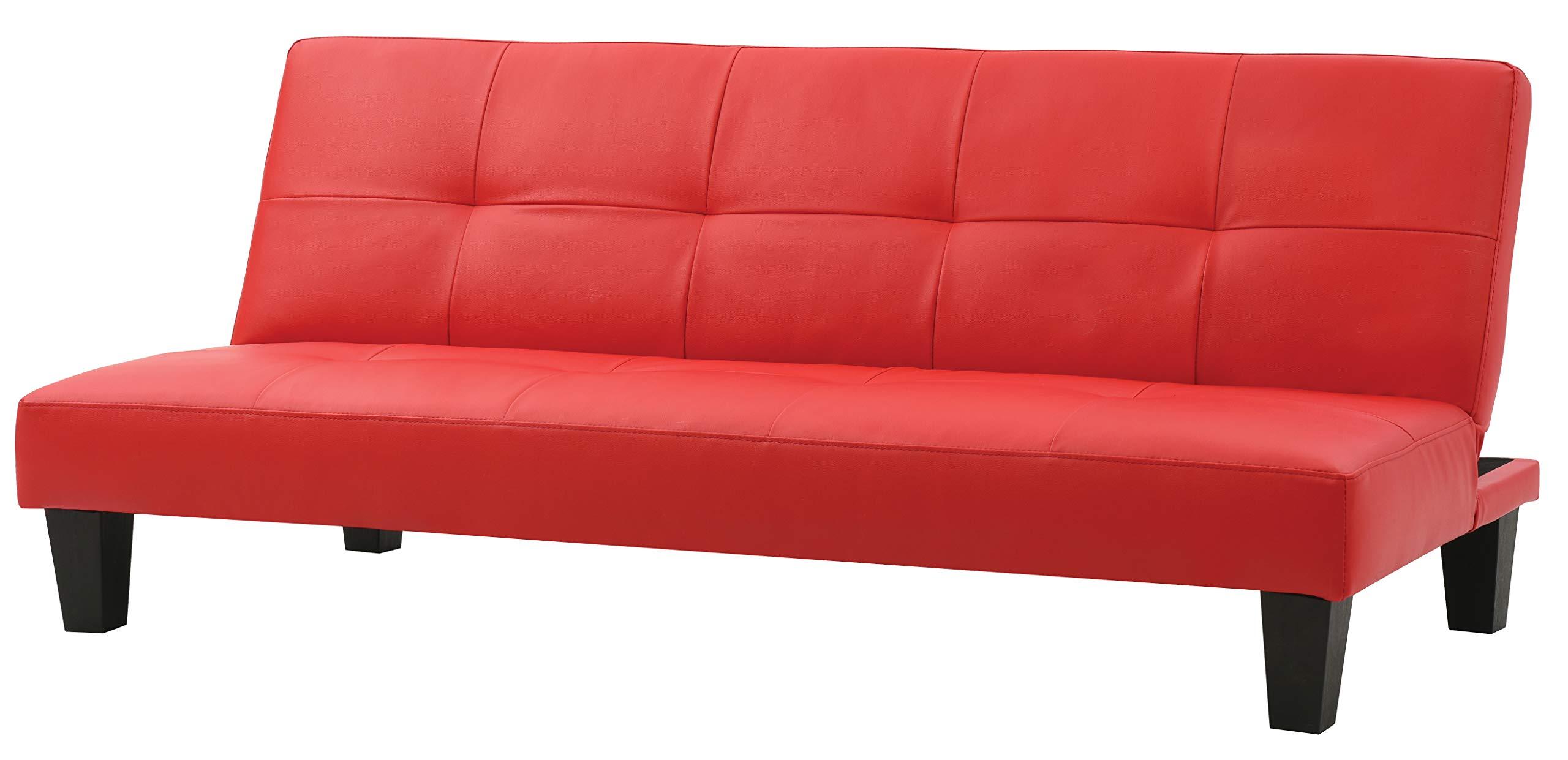 Glory Furniture G112-S Klik Klak Sofa Bed, Red/Black by Glory Furniture