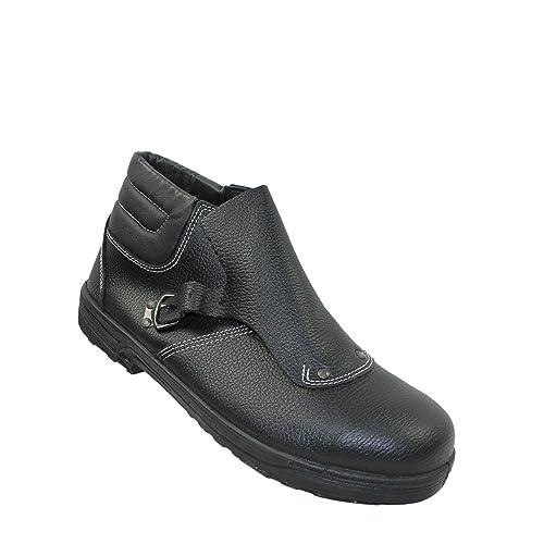 Zapatos de Seguridad de Impacto de Detroit SA S1P HRO los Zapatos de Trabajo de Soldadura Zapatos instaladores de techos Altos Zapatos Negro: Amazon.es: ...