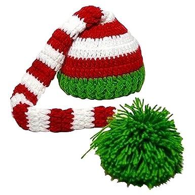 75c96526ba94 TOOGOO(R) Bonnet en tricot a queue longue Bonnet de Noel en tricot ...