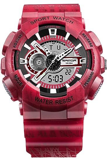 Sanda 299, Reloj de Pulsera Digital para Hombre, ejército, Camuflaje.: Amazon.es: Relojes