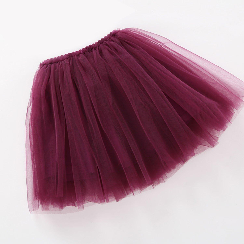 Happy Cherry Jupe Tutu Fille Courte Multi-Couche Gonflant Danse Classique 6 Couleurs