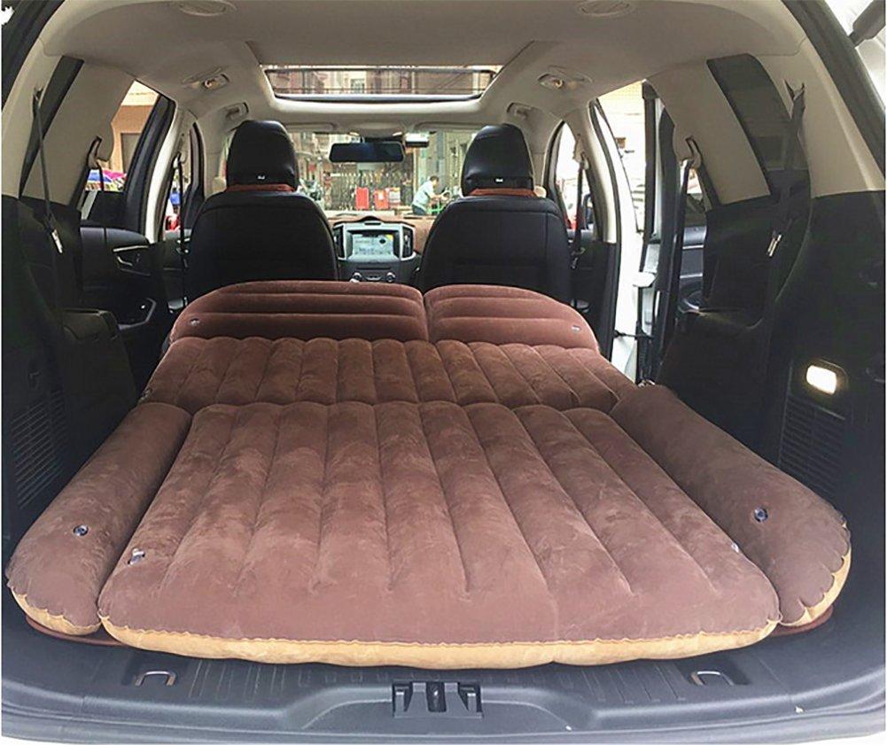 BMDHA Auto Luftbett Aufblasbare Doppelbett Stamm Große Komfortable Doppelseitige Verfügbaren SUV Verwenden (Kostenlos Elektrische Luftpumpe, Etc. Zubehör)Grau