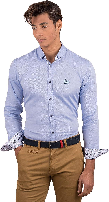 La Vespita Camisa Contraste de Lunares y Logo Vespa: Amazon.es ...