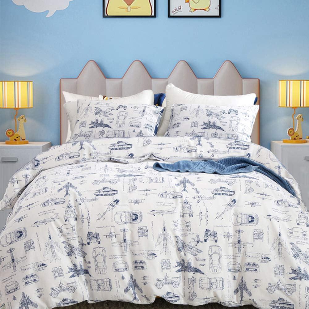 Amazon.com: CLOTHKNOW Boys Duvet Cover Set Twin Cotton Kids
