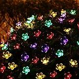 Splink Luce Stringa Led Solare Impermeabile Stringa di Luce ad Energia Solare , 27.5 ft/7M 50 Fiori LED , Decorazione di Interna ed Esterna per Casa, Giardino, Matrimonio, Festa di Natale (Multi-colore)