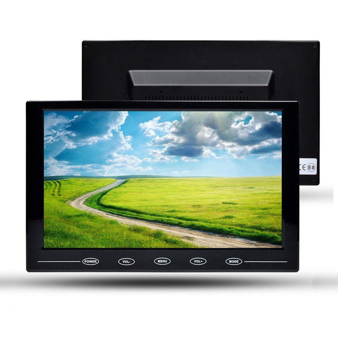 Écran 10.1 Pouces TOGUARD Moniteur Avec Écran Tactile LED en Couleur, Affichage de Moniteur 1280*800 Écran de Surveillance, Inclut Sortie VGA/AV/BNC/HDMI/USB et Haut-Parleur Intégré WR952
