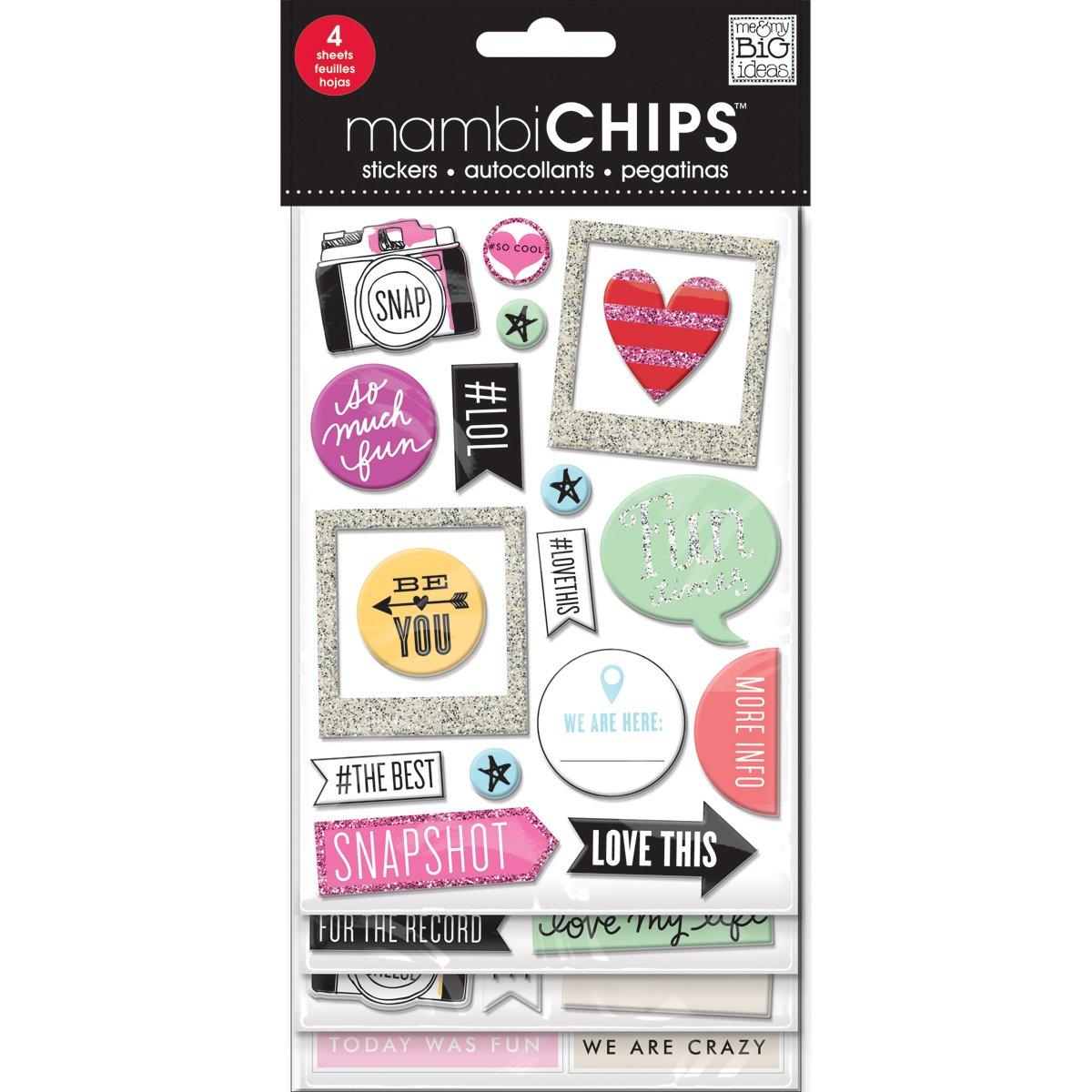 Me & My Big Ideas Cardboard Chipboard Value Pack-Insta Love CBVX41