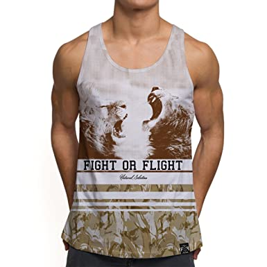 240b722008b1 Mens Vests Gym Workout Printed Tank Top Fight Flight Fighting Lions Summer  Holiday Clothes  Amazon.co.uk  Clothing