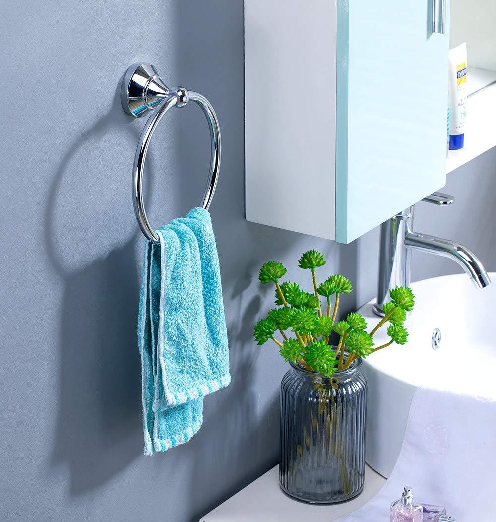 kayil Brass Towel Ring,Towel Holder,Chrome