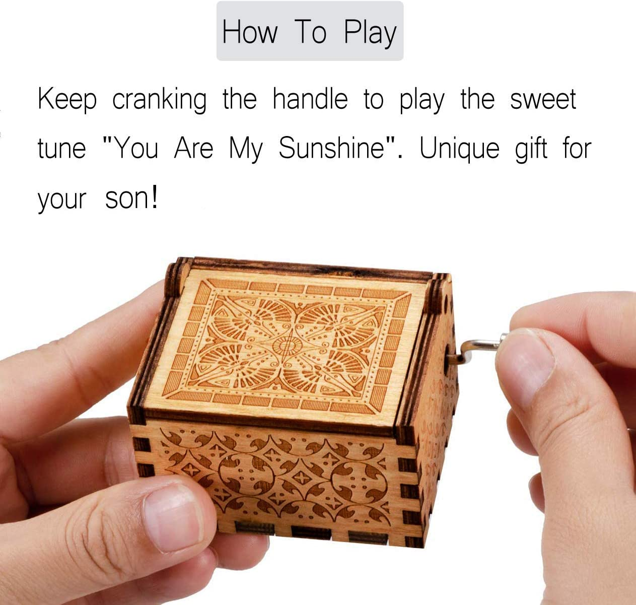 Mum to son You are My Sunshine Music Box from Mum to Son,You are My Sunshine Music Box for Son,best Gift From Mum to Son