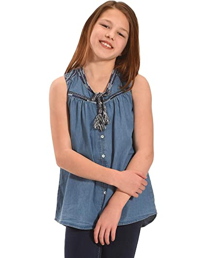 Amazon.com  Silver Girls  Sleeveless Denim Top  Clothing