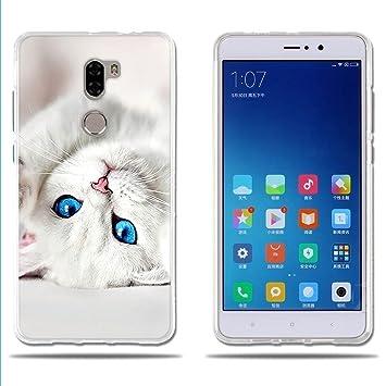 FUBAODA Funda para Xiaomi Mi5S Plus Dibujo de Lindo Gatito Blanco ...