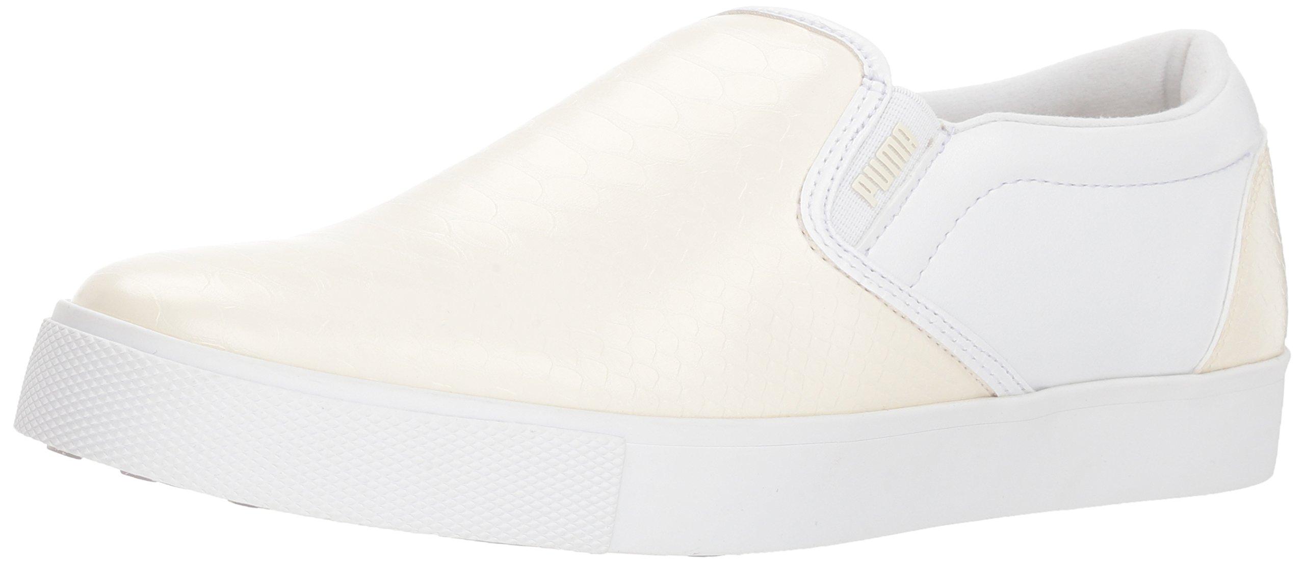 PUMA Golf Women's Tustin Slip-on Golf Shoe, Whisper White White, 7.5 M US