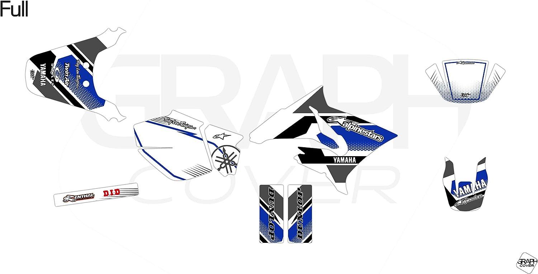 KIT Deco Motocross Yamaha DT 50 Comics Blanc Bleu 2003 /à 2020