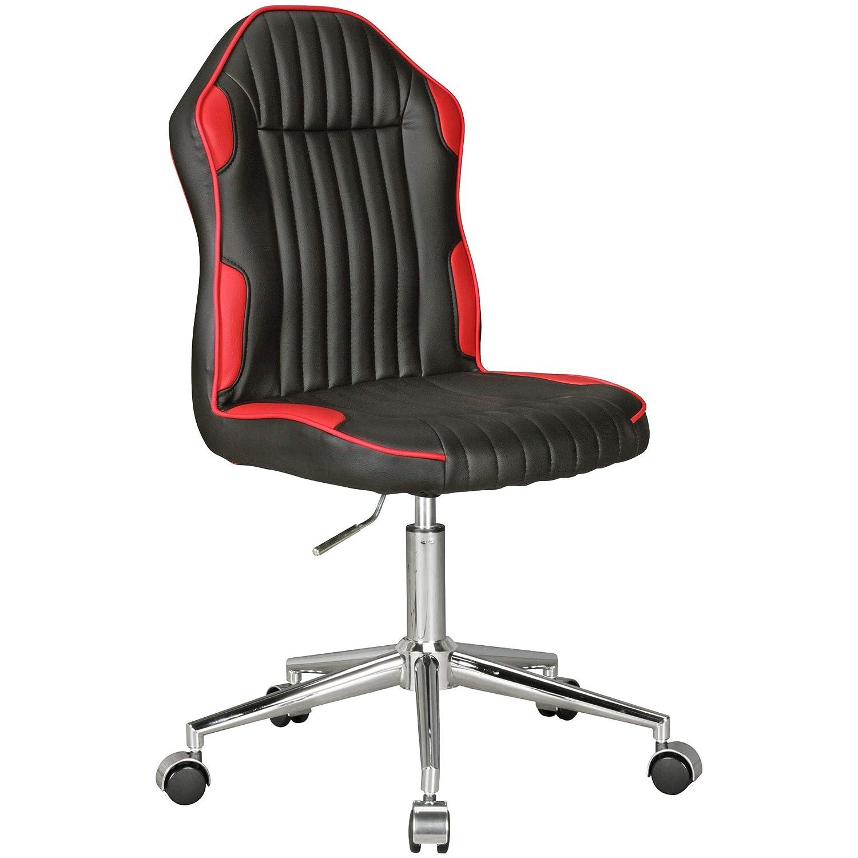 Amstyle Kinder-Schreibtischstuhl Julian, für Kinder ab ab Kinder 6 mit Lehne, schwarz/rot 4edf3e