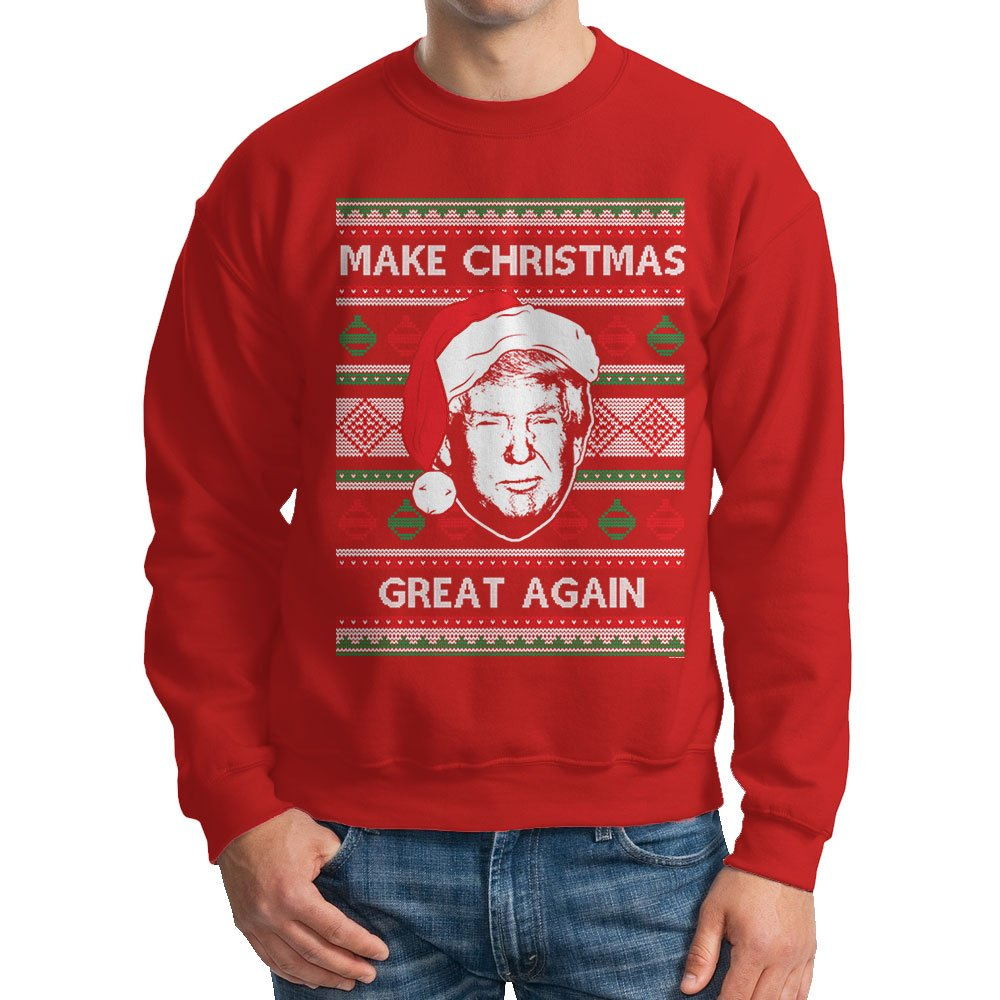 Amazon.com: HAASE UNLIMITED Men's Trump Make Christmas Great Again ...