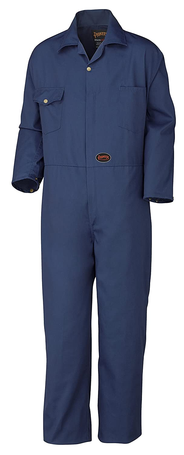 Pioneer V202038T-60 Tall Fit Heavy-Duty Work Coverall - 7 Storage Pockets, Men, Navy Blue, 60