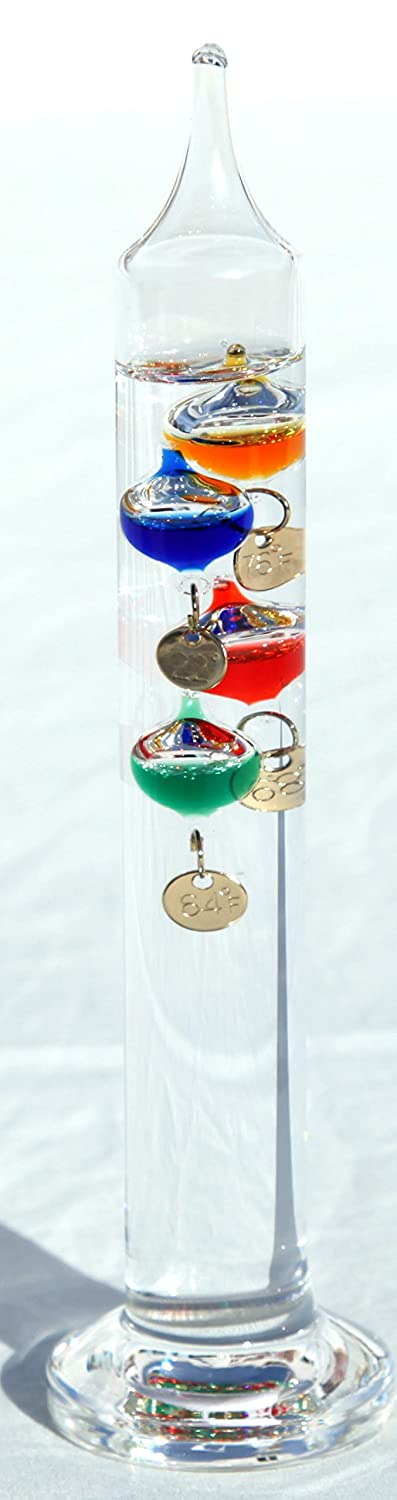 18cm tall free standing Galileo thermometer Vectis