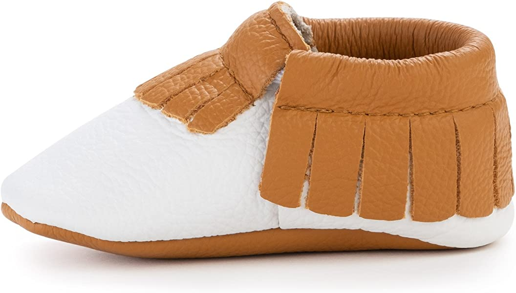 ccdc931a102c BirdRock Baby Moccasins - Soft Sole Leather Boys and Girls Shoes for  Infants