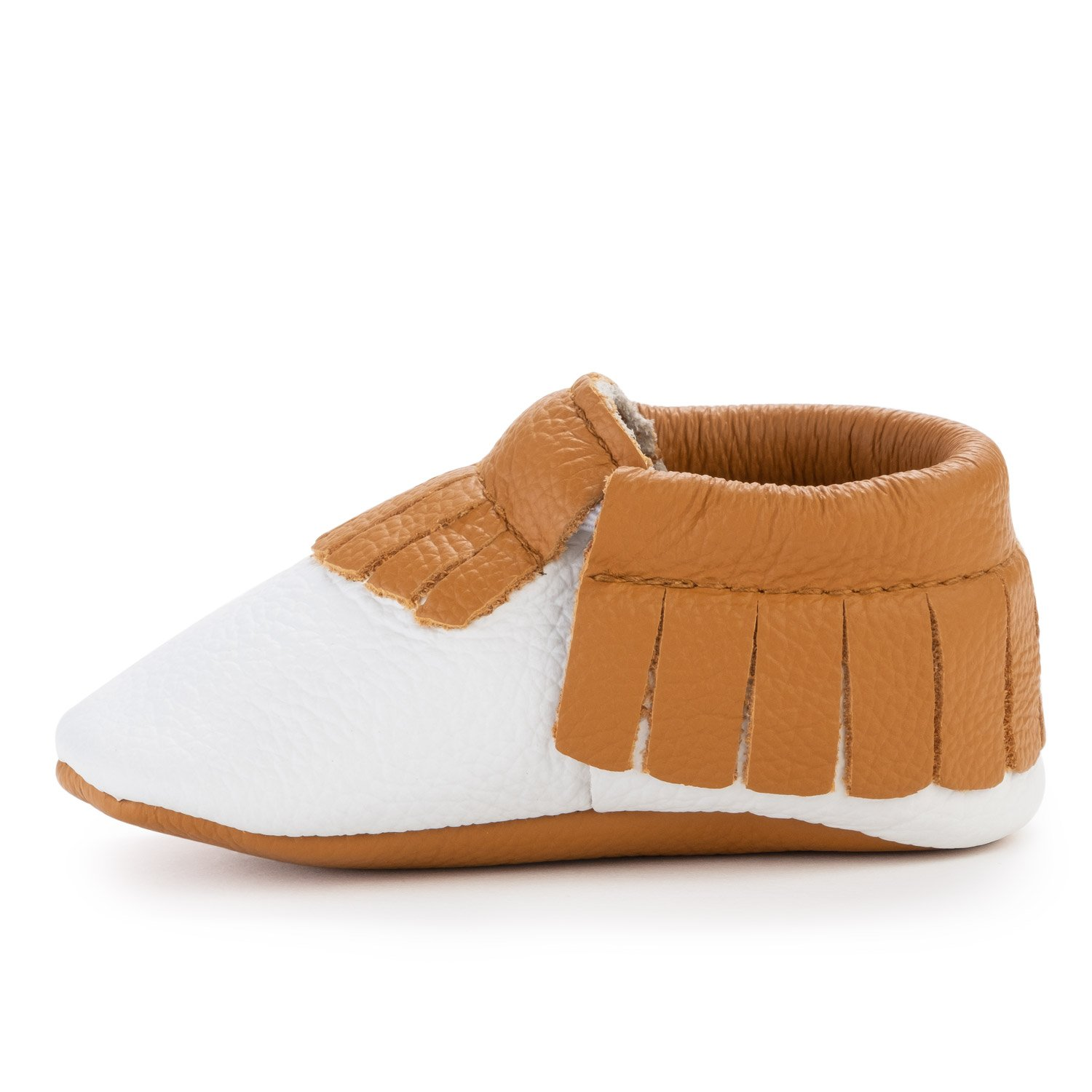 BirdRock Baby Moccasins - Soft Sole Leather Boys and Girls Shoes for Infants, Babies, and Toddlers (Preschooler | 3-4 Years | US 9.5, Harvest)