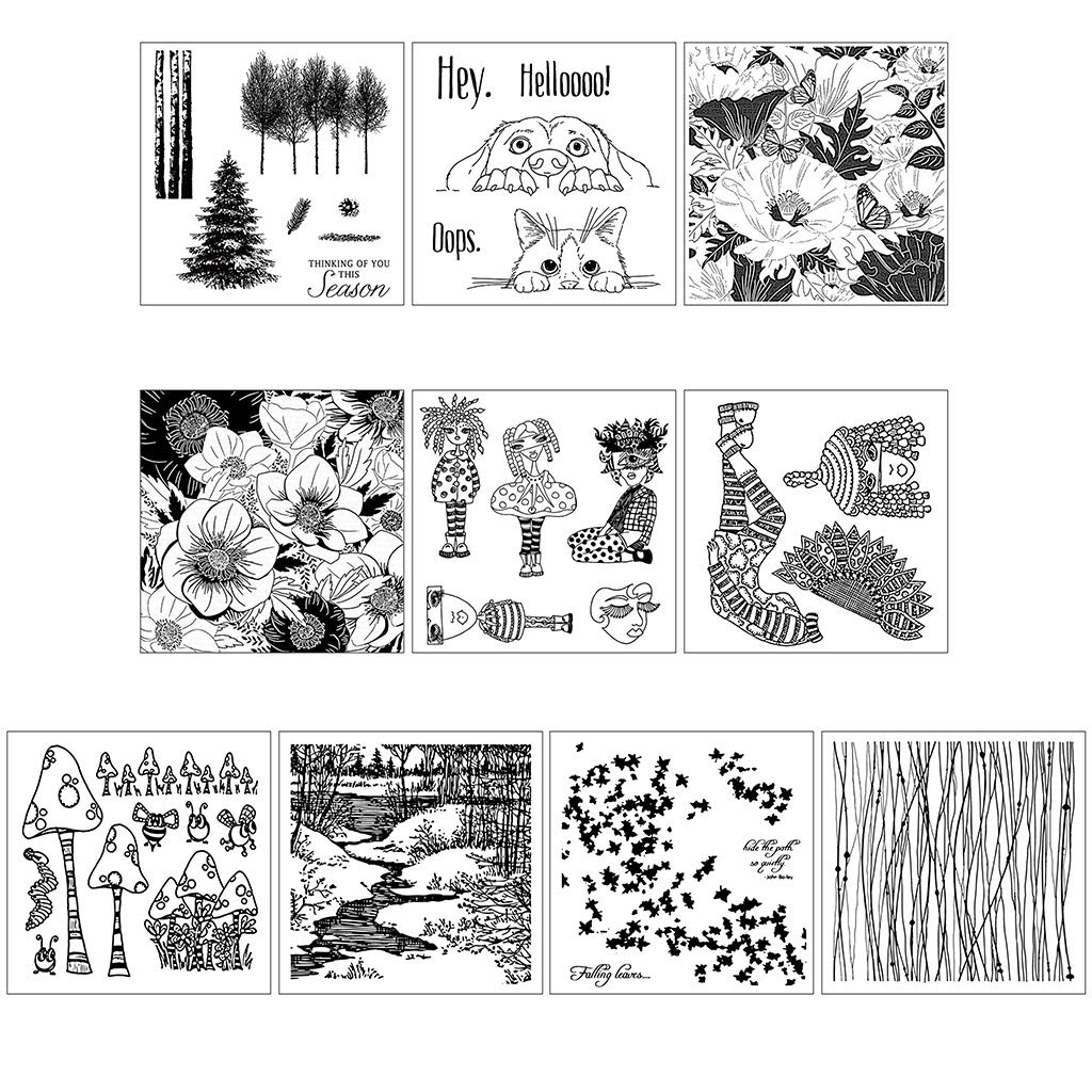 Some Flower Dabixx Clear Stamps Ink Pad Transparent Stamp Silicone Stamp DIY Scrapbooking Embossing Paper Cards Home Decor
