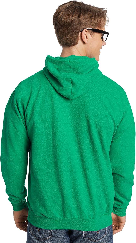 Hanes Men's Fleece Full Cut Athletic Hooded Pullover Safety Green