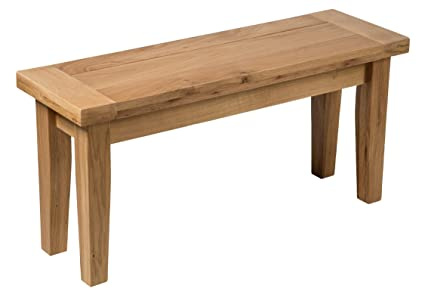 Fine Hallowood Camberley Bench With Light Oak Finish 94Cm Long Gmtry Best Dining Table And Chair Ideas Images Gmtryco