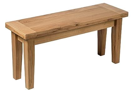 Phenomenal Hallowood Camberley Bench With Light Oak Finish 94Cm Long Uwap Interior Chair Design Uwaporg