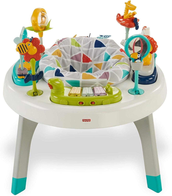 Fisher-Price Centro de actividades 2 en 1, mesa de actividades para niños y bebés +3m (Mattel FVD25)