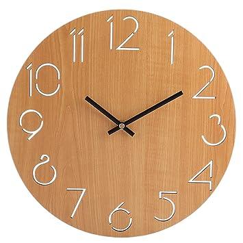 Wanduhr Lautlos, Vicoki Wanduhr Küche Uhr für Wohnzimmer, Küche Oder ...