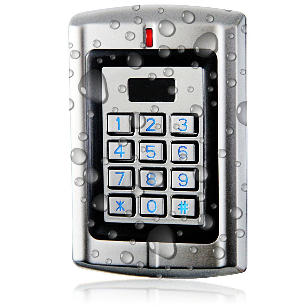 UHPPOTE Metal Waterproof Stand-alone Access Keypad Wiegand 26 for 125Khz EM-ID Card Sebury-W3-C
