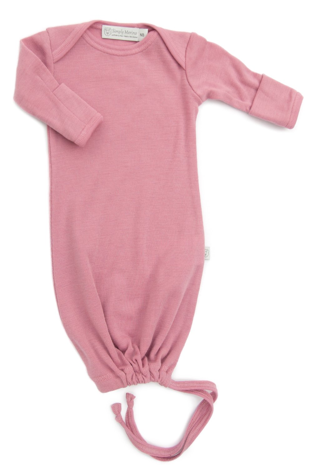 Pure Merino Wool Baby Sleep Sack. Kids Infant Gown Sleeper Bag. Pink Newborn by Simply Merino