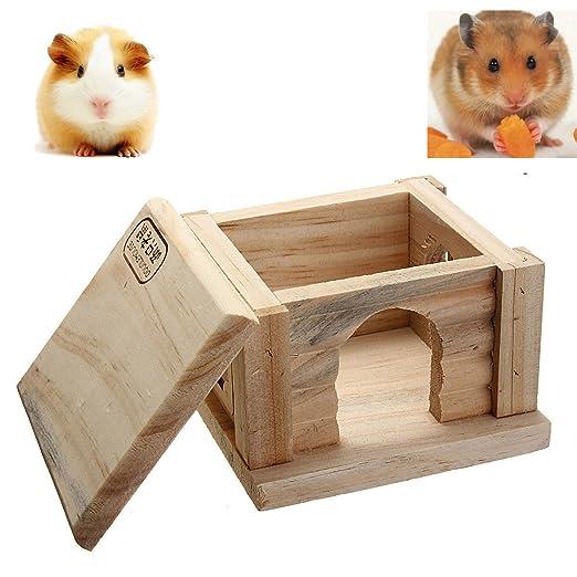 Tutoy Juguete de Madera Hámster casa Enano Jaula Rata Ratón Mouse ...