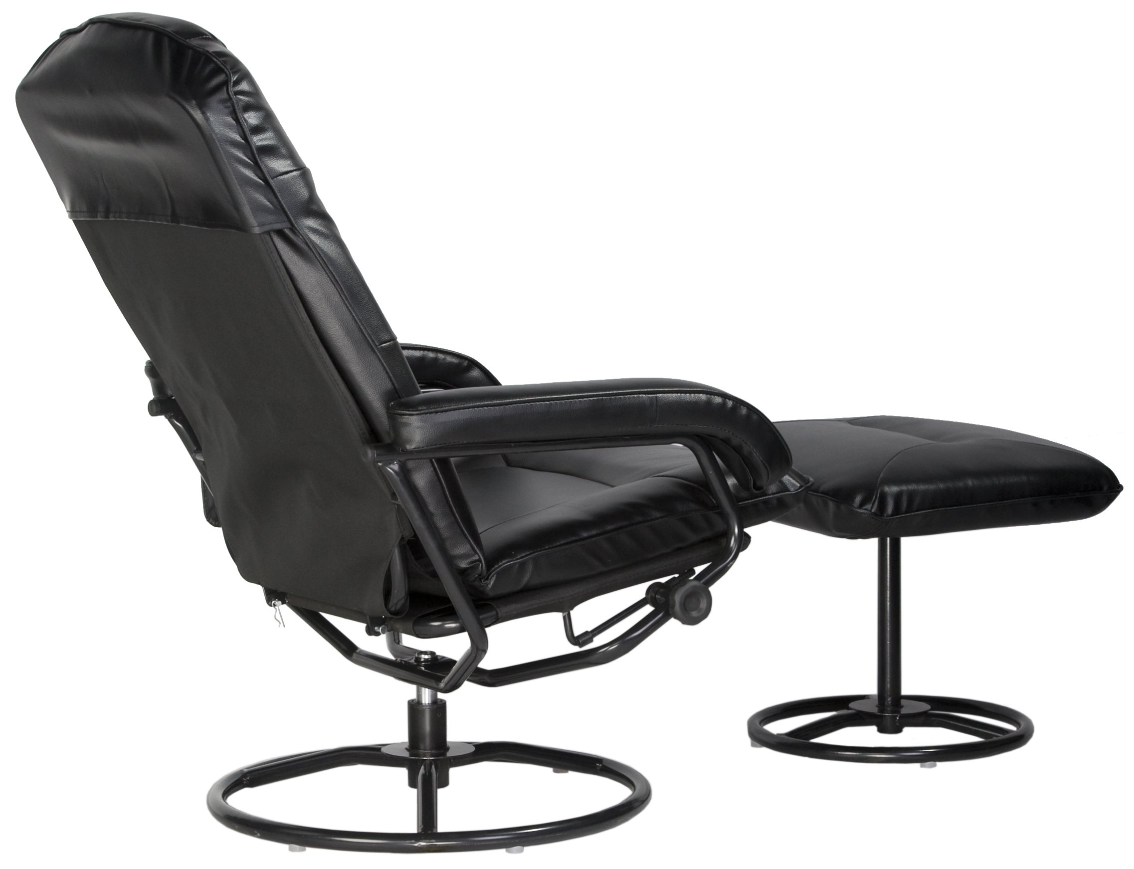 Comfort Products 60-0582 Leisure Recliner Chair with 10-Motor Massage & Heat, Black by Comfort Products (Image #4)