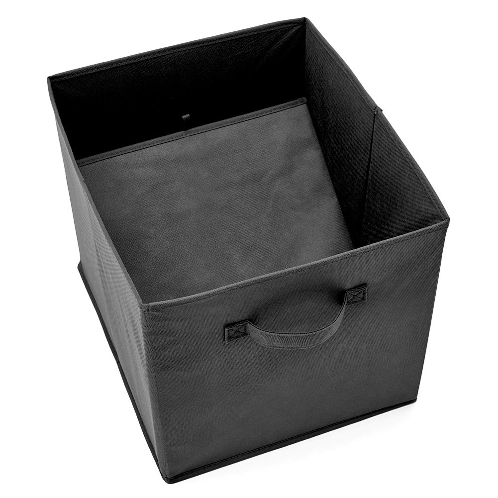 13 x 15 x 13 inches Collapsible Storage Cube Boxes for Nursery Toys EZOWare Set of 4 Foldable Fabric Basket Bin Black